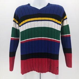 Tommy Hilfiger Multicolor Knit Sweater Men's Med